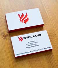 Drillco business cards
